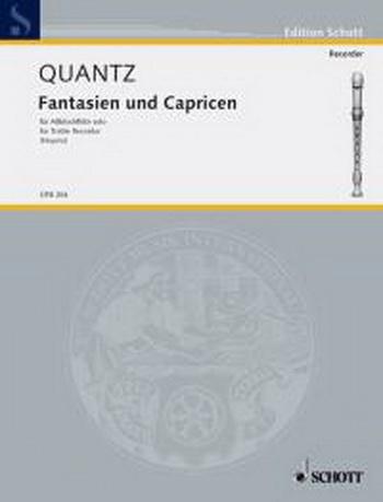 Fantasien Und Capricen: Treble Recorder and Piano