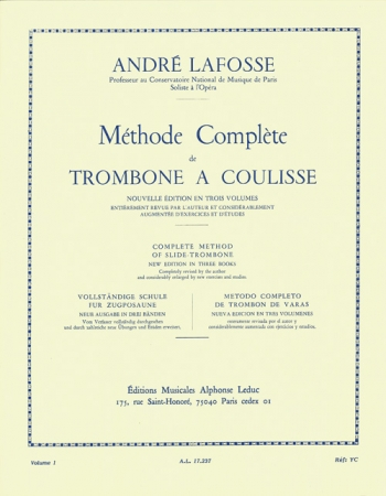 Methode Complete For Trombone Volume I (Leduc)