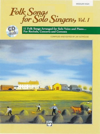 Folk Songs For Solo Singers: Vol1: Med High Voice Book & CD (Althouse)