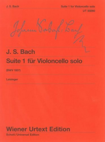 Suite  No 1 Cello Solo: Bwv1007 (Wiener Urtext)