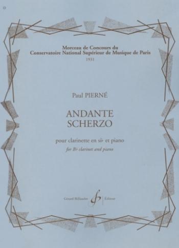 Andante-Scherzo: Clarinet & Piano (Billaudot)