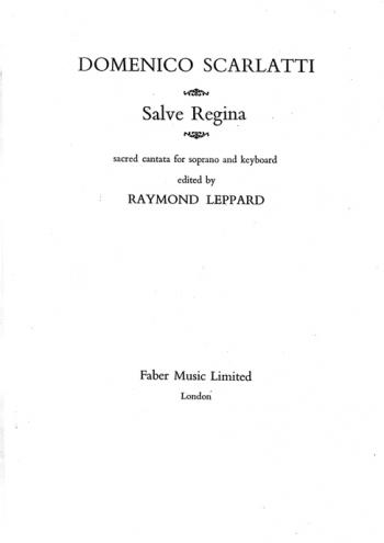Salve Regina: Soprano and Piano (Faber)