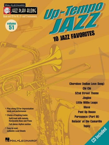 Jazz Play Along Vol.51: Up Tempo Jazz: Bb Or Eb Or C Instruments: Book & CD