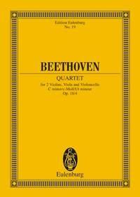String Quartet: C Minor: Miniature Score
