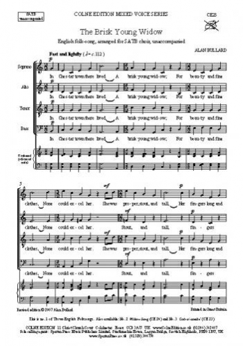 The Brisk Young Widow: SATB