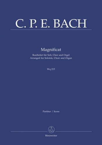 Magnificat: Wq215: Satb: Vocal And Organ (Barenreiter)