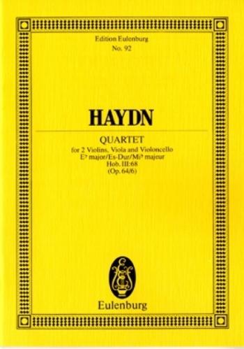 String Quartet : Eb Major: Op64/6: Miniature Score