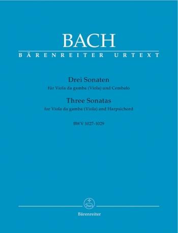 3 Sonatas: Bwv1027: 1029: Viola De Gamba and Harpsichord (Barenreiter)