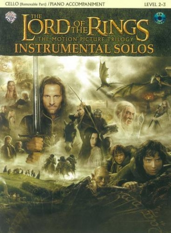Lord Of The Rings: Trilogy:  Instrumental Solos: Cello: Book & CD