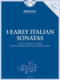 3 Early Italian Sonatas: Descant Recorder and Piano (With Basso Continuo) (Dowani)