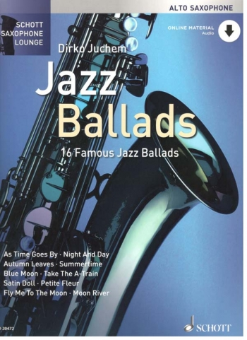 Schott Saxophone Lounge: Jazz Ballads Alto Sax Book & Online Audio