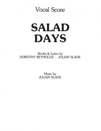 Salad Days: Vocal Score