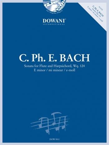 Sonata E Minor Wq124: Flute and Piano: Book & CD (Harpsichord) (Dowani)