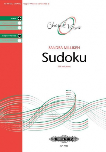 Sudoku: Ssa And Piano: Easy Upper Voices (Choral Vivace)