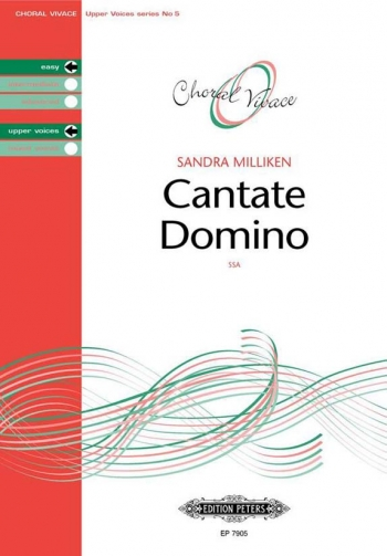 Cantate Domino: Ssa And Piano: Easy Upper Voices (Choral Vivace)