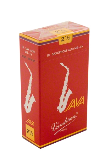 Vandoren Java Filed Red Cut Alto Saxophone Reeds