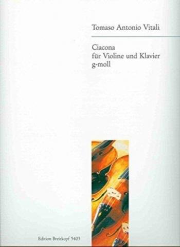 Chaconne G Minor: Violin Solo (Breitkopf)