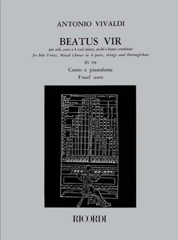Beatus Vir: Bb: RV598 (Psalm 111) In B Flat: Vocal Score (Ricordi)