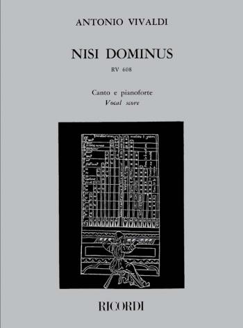 Nisi Dominus: Rv608: Vocal Score (Ricordi)
