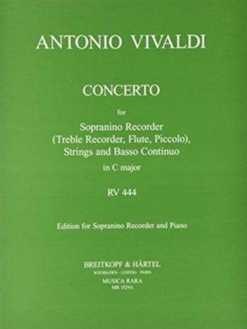 Concerto: C Major: Rv444: Sopranino/Treble Recorder and Piano (Breitkopf)