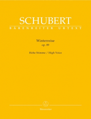 Winter Journey The: Op89 (Die Winterreise): High Voice and Piano: (Barenreiter)