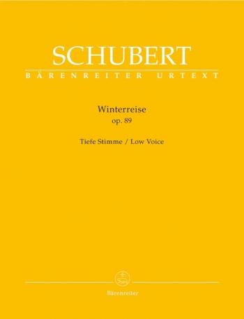 Winter Journey The: Op89 (Die Winterreise): Low Voice and Piano: Urtext (Barenreiter)