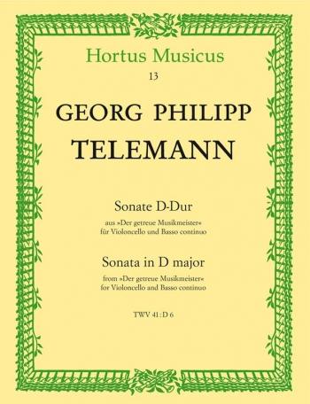 Sonata: D Major: Cello & Piano