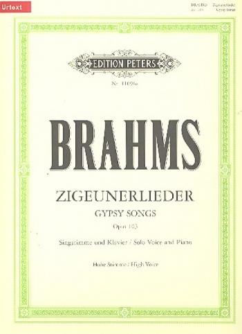 Gypsy Songs: Op103: Zigeunerlieder: High Voice And Piano (Peters)