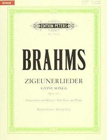 Gypsy Songs: Op103: Zigeunerlieder: Medium Voice And Piano (Peters)