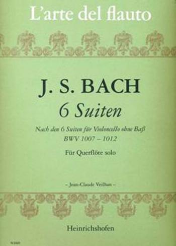 6 Cello Suites Bwv1007-1012: Arranged For Flute (Peters)