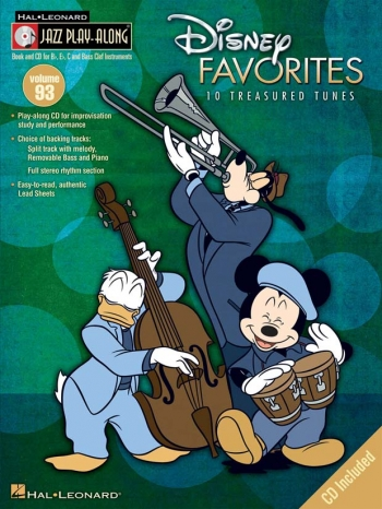 Jazz Play Along Vol.93: Disney Favourites: Bb or Eb or C Instruments: Book & CD