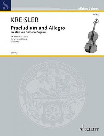 Praeludium And Allegro: Viola