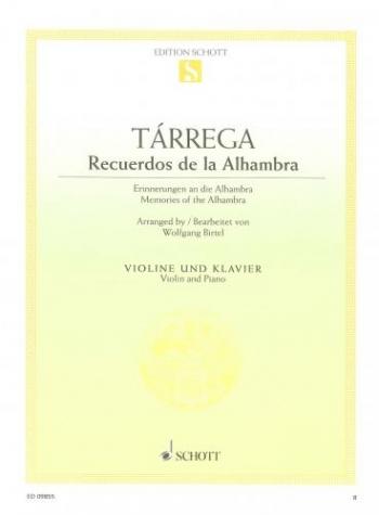 Memories Of Alhambra- Violin & Piano (Birtel)