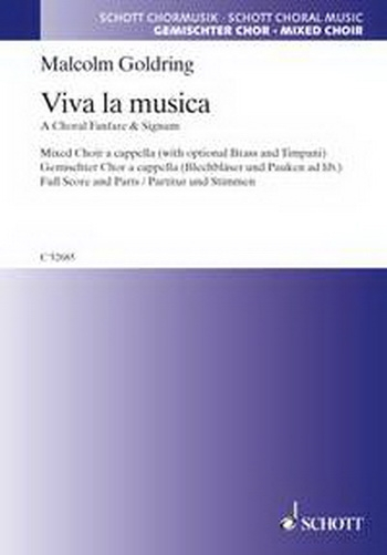 Viva La Musica: Mixed Choir With Brass Instruments: SATB: Vocal: Score and Parts