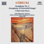 Symphony No. 3, Op. 36 (Symphony Of Sorrowful Songs): Naxos CD