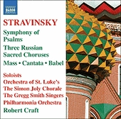 Symphony Of Psalms: Naxos CD