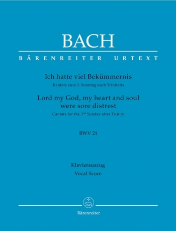 Lord My God, My Heart And Soul: Cantata  For The 3Rd Sunday After Trinity: Vocal Score (Barenreiter)