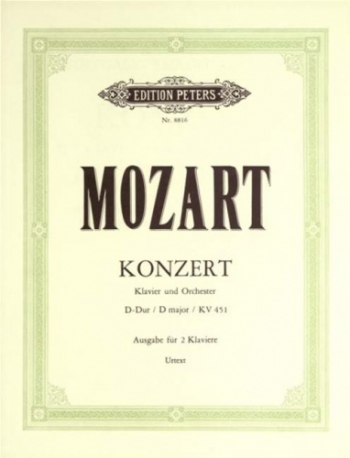 Concerto In D Major: Kv451: No.16: Piano  (Peters)
