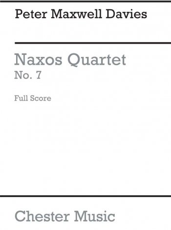 Naxos Quartet No 7: Miniature Score