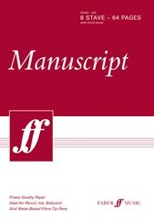Manuscript: 8 Stave - 64 Page Tab With Chord Boxes: White Pad