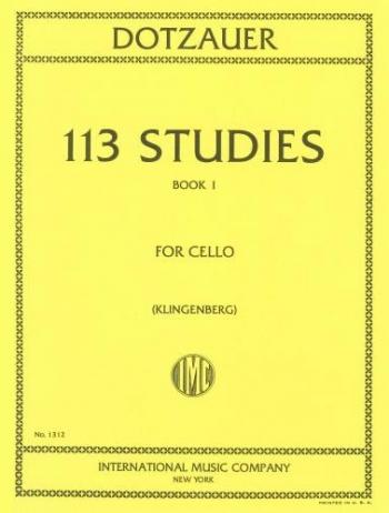 113 Studies: Book 1 (no1-34 ): Cello (International)