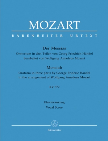Messiah arr Mozart Vocal Score