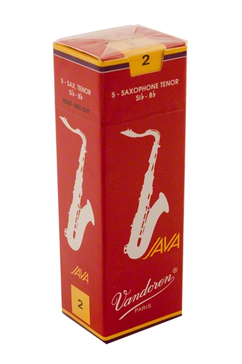 Vandoren Java JV26 Filed Red Cut Tenor Saxophone Reeds