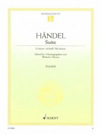 Suite In D Minor HWV 437: Piano (Schott Ed)