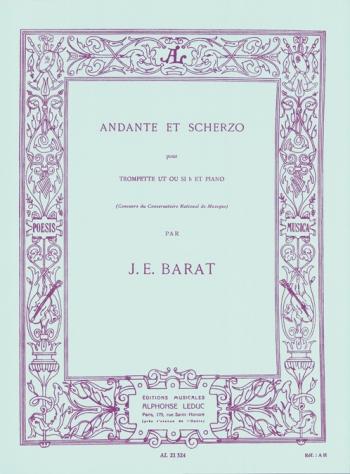 Andante Et Scherzo: Trumpet And Piano (Leduc)
