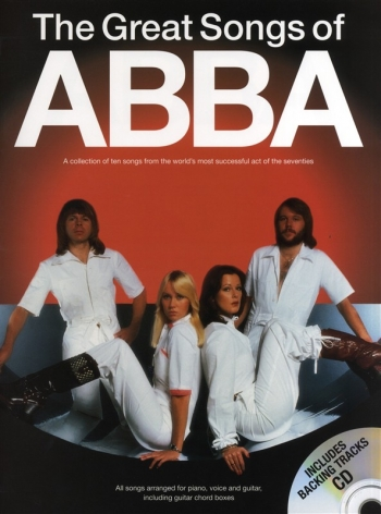 The Great Songs Of Abba: Piano Vocal And Guitar: Book& Backing Tracks