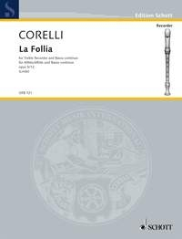 La Folia: Op5: 12: Treble Recorder & Piano