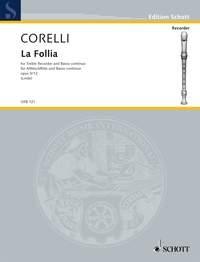 La Folia: Op5: 12: Treble Recorder & Piano