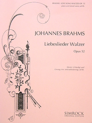 Liebeslieder: Love Song Waltzes Op52: Vocal Score