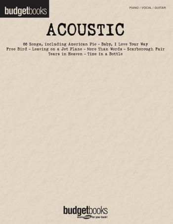 Budget Books Acoustic: Piano Vocal Guitar
